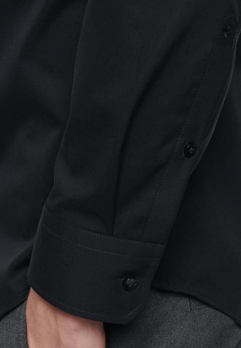 Cămașă business bărbați poplin Seidensticker Slim Not Iron neagra [4]