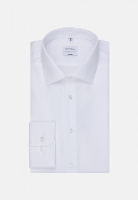Cămașă business bărbați Seidensticker Shaped Not Iron alba structurata [5]