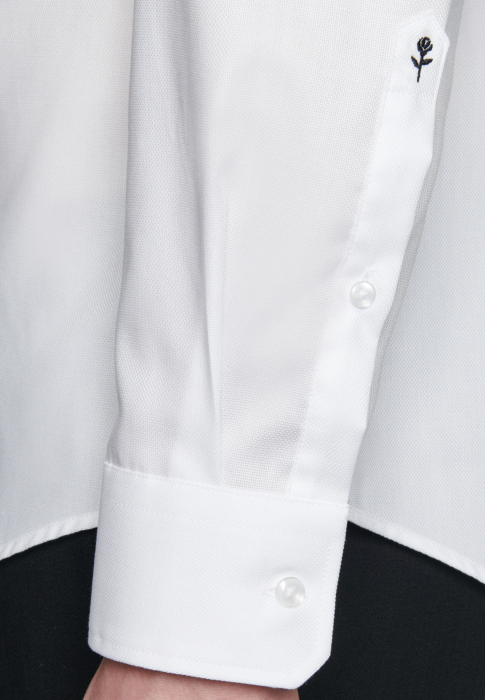 Cămașă business bărbați Seidensticker Shaped Not Iron alba structurata [3]