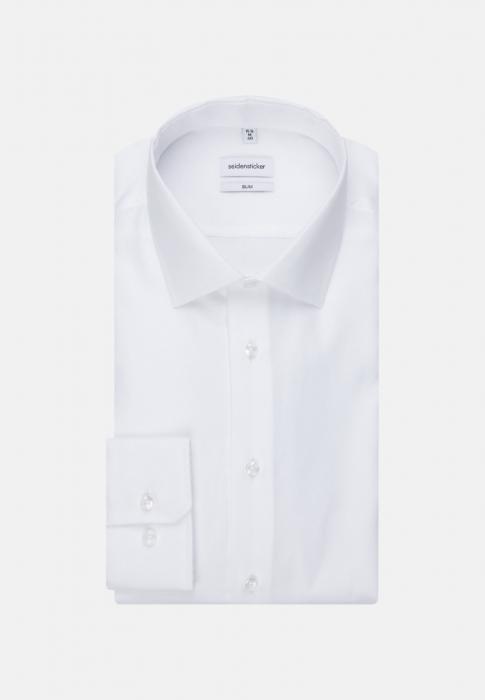 Cămașă business bărbați Seidensticker Slim Not Iron alba structurata [5]