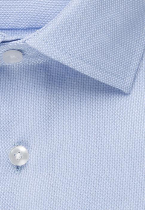 Cămașă business bărbați Seidensticker Slim Not Iron albastra structurata [7]