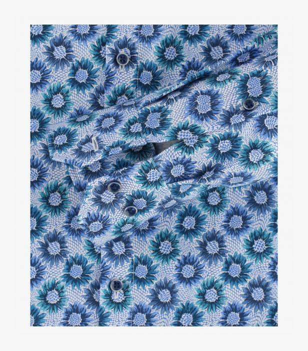 Camasa bumbac barbati VENTI Modern Fit print floral albastru [3]
