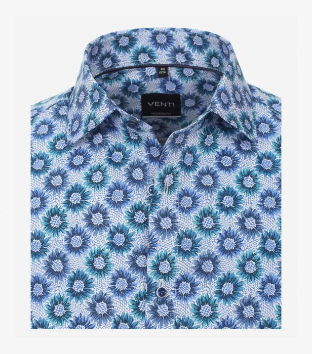 Camasa bumbac barbati VENTI Modern Fit print floral albastru [2]