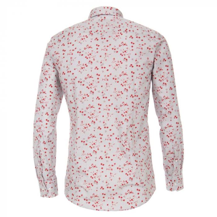 Camasa bumbac barbati VENTI ModernFit print floral rosu [1]