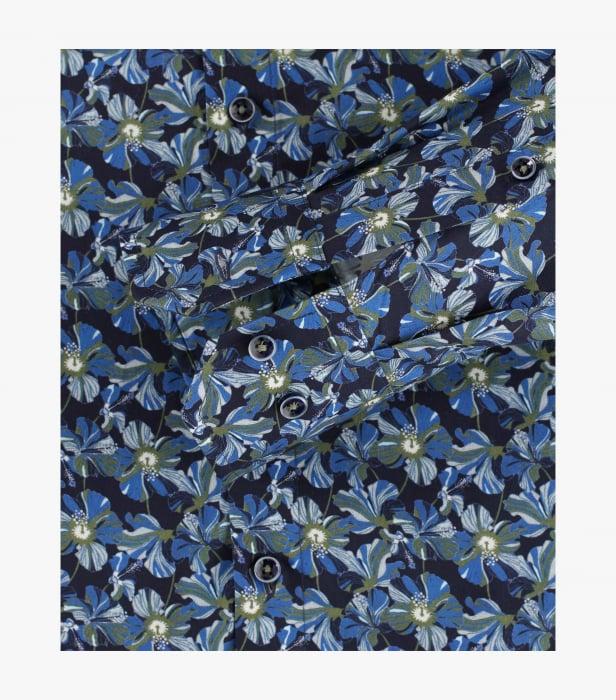 Camasa bumbac barbati VENTI ModernFit albastra print floral [3]