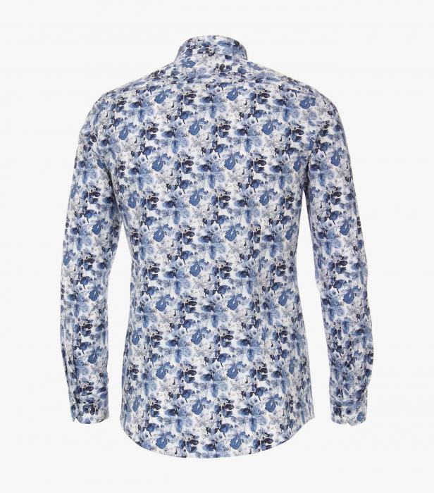 Camasa maneca lunga barbati VENTI ModernFit albastra print floral [1]