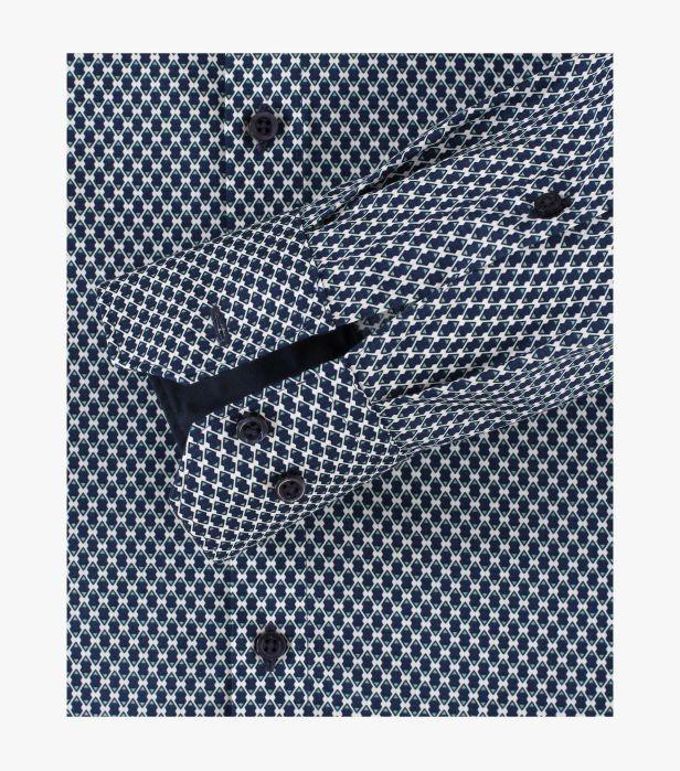 Camasa barbati VENTI print albastru ModernFit 113599600/100 [3]