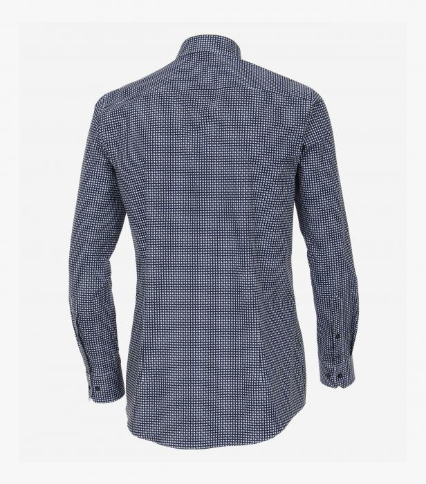 Camasa bumbac barbati VENTI Modern Fit alb/bleu cu patratele negre [1]