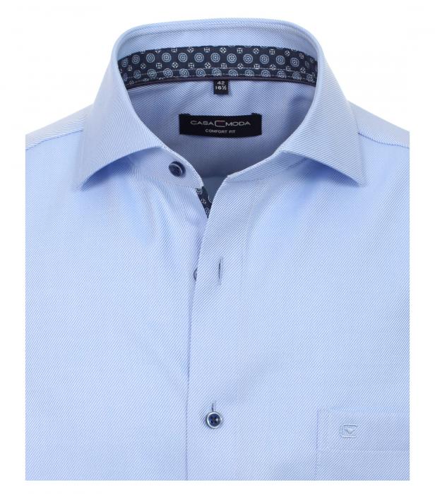 Camasa maneca lunga barbati CASA MODA print Comfort Fit albastra [2]