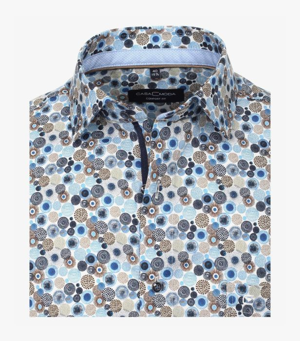 Camasa barbati CASA MODA print albastru ComfortFit 313650100/100 [1]