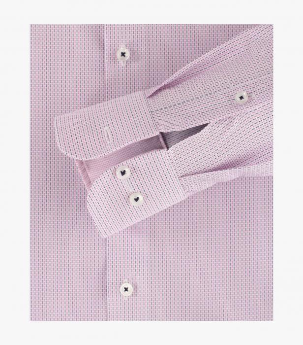 Camasa bumbac barbati CASA MODA Modern Fit roz print dungulite [3]