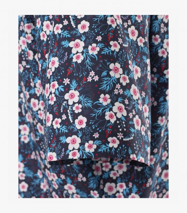 Camasa bumbac maneca scurta barbati VENTI Modern Fit bluemarin print turcoaz [3]