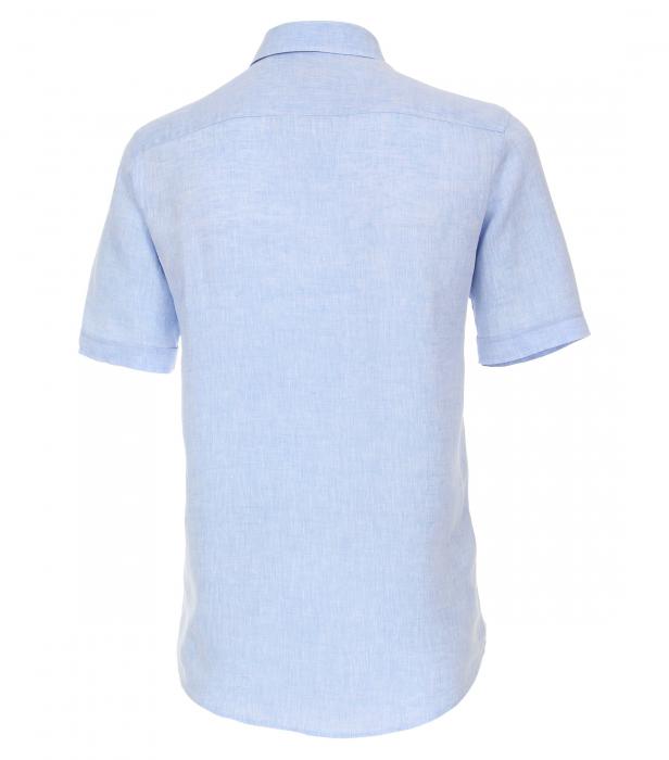 Camasa in maneca scurta barbati CASA MODA CasualFit uni albastra [1]