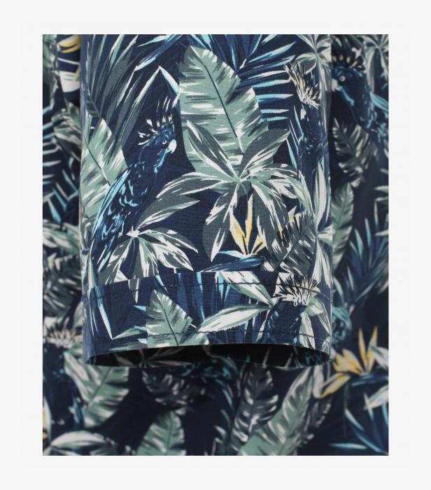 Camasa bumbac maneca scurta CASA MODA CasualFit bleumarin print floral [3]