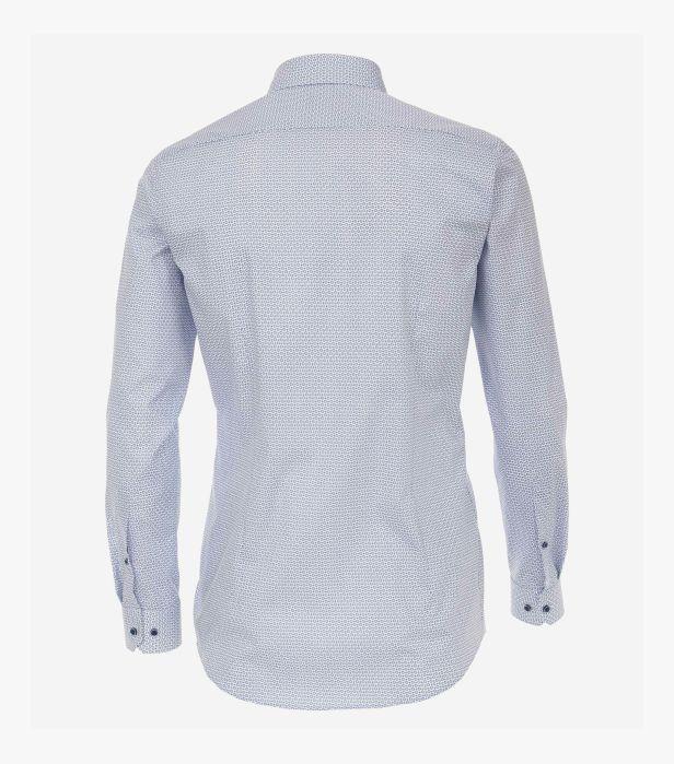 Camasa maneca lunga barbati VENTI print Body Fit albastra [1]