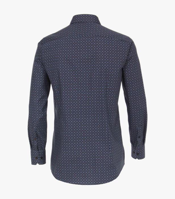 Camasa maneca lunga barbati VENTI print Modern Fit albastra [1]
