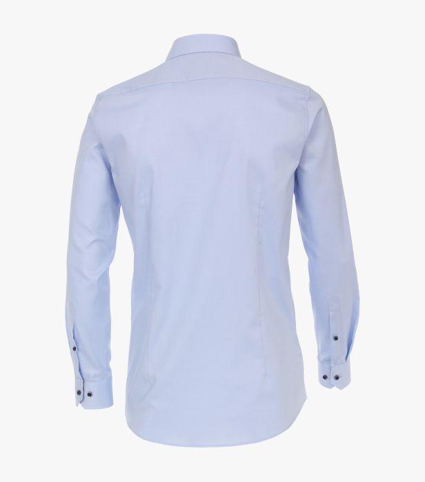 Camasa maneca lunga barbati VENTI uni Body Fit albastra [1]
