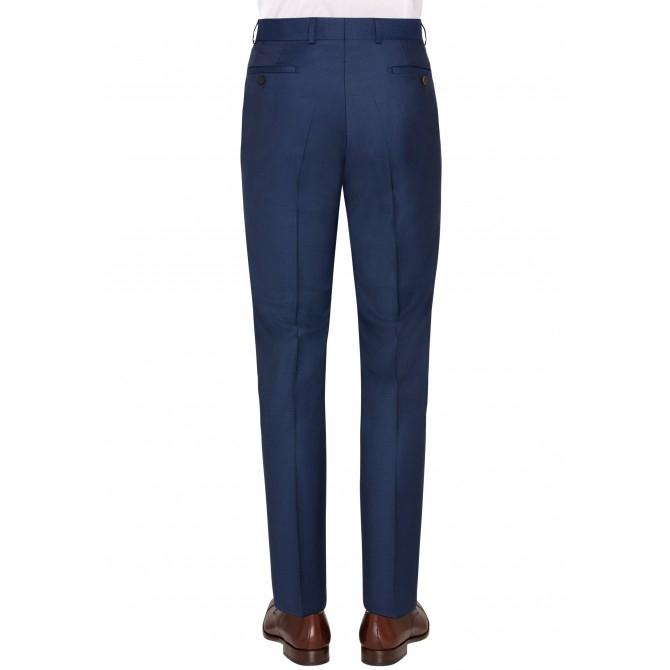 Pantaloni mix&match CARL GROSS BLACK LINE Flann pentru costum Sharp Fit albastru [1]