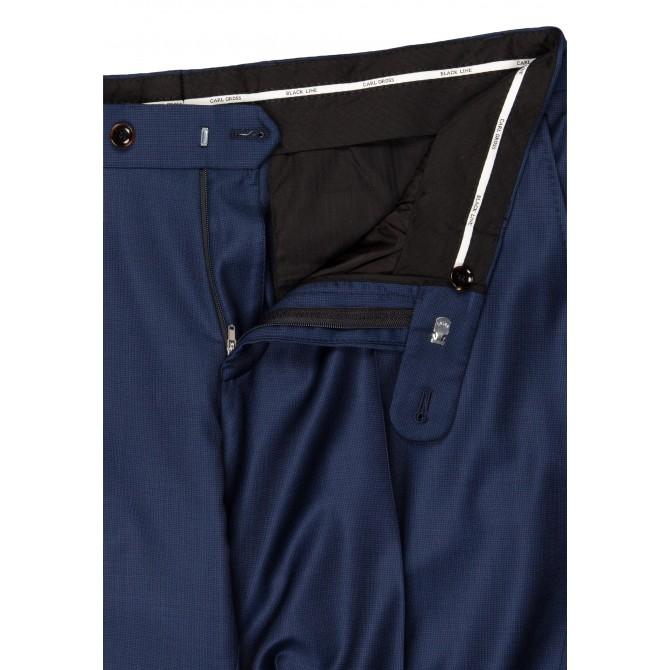 Pantaloni mix&match CARL GROSS BLACK LINE Flann pentru costum Sharp Fit albastru [2]