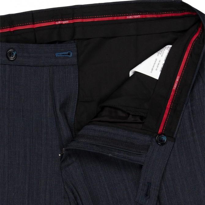 Pantaloni mix&match CLUB of GENTS Cedric pentru costum Slim Fit albastru caroiat [2]