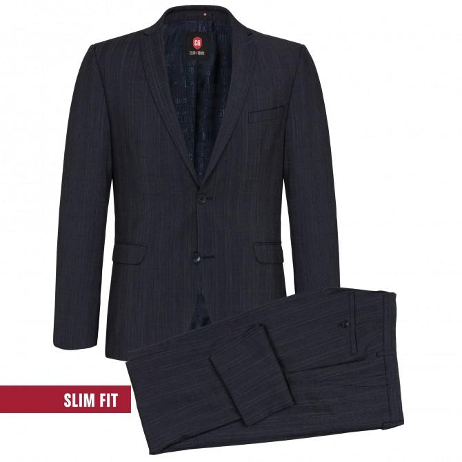 Sacou mix&match CLUB of GENTS Caden pentru costum Slim Fit albastru caroiat [4]