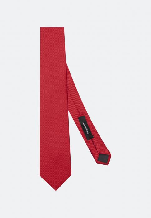 Cravata matase SEIDENSTICKER uni rosie [2]