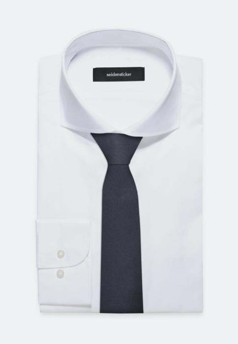 Cravata matase SEIDENSTICKER uni bleumarin [1]