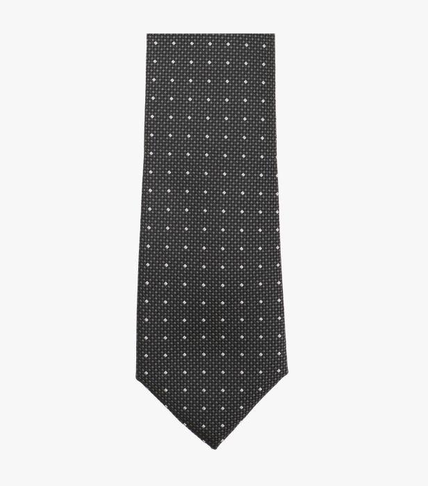 Cravata VENTI antracit cu puncte albe [2]
