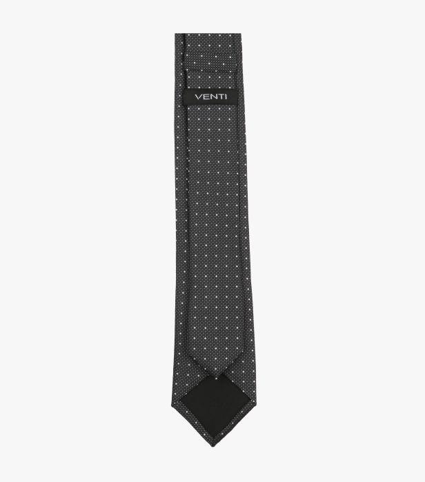 Cravata VENTI antracit cu puncte albe [1]