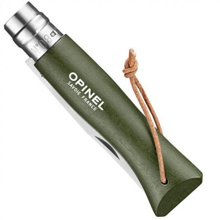 Cutit pliabil OPINEL NR.8 Inox kaki cu snur [2]