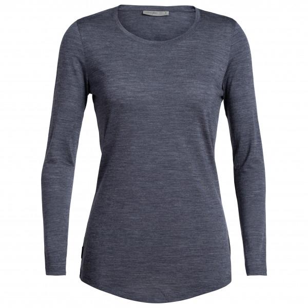 Bluza de corp femei ICEBREAKER Sphere LS Low Crewe bleumarin [0]