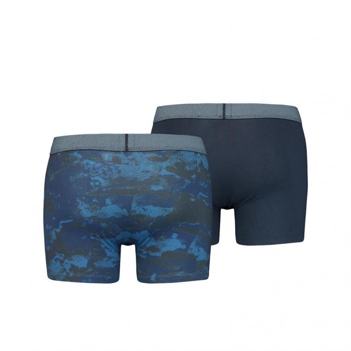 Boxeri lungi barbati LEVI'S bleumarin print ocean - set 2 buc [1]