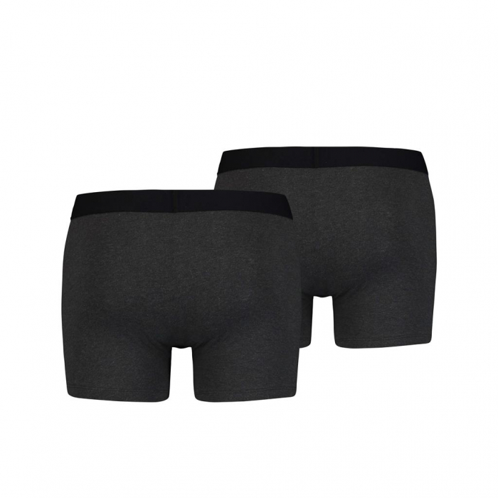Boxeri lungi barbati LEVI'S SOLID BASIC antracit - set 2 buc [1]