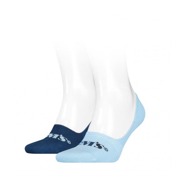 Sosete foarte scurte unisex LEVI'S albastru New Logo - set 2 perechi [0]