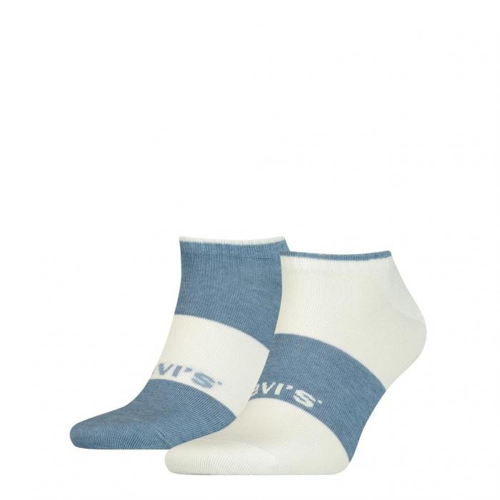 Sosete unisex sustenabile LEVI'S alb / albastru - set 2 perechi [0]
