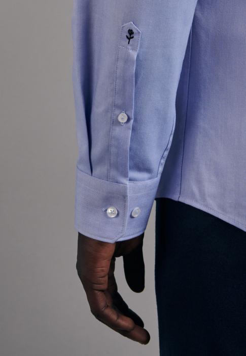Cămașă business bărbați Seidensticker Slim Not Iron albastra [3]
