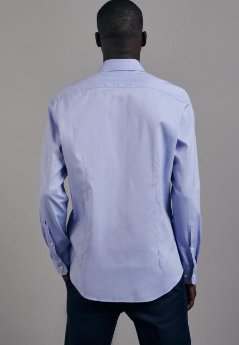 Cămașă business bărbați Seidensticker Slim Not Iron albastra [1]