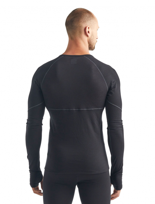 Bluza de corp barbati ICEBREAKER 150 Zone LS neagra [2]
