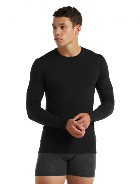 Bluza merino barbati ICEBREAKER Anatomica Crewe neagra [1]