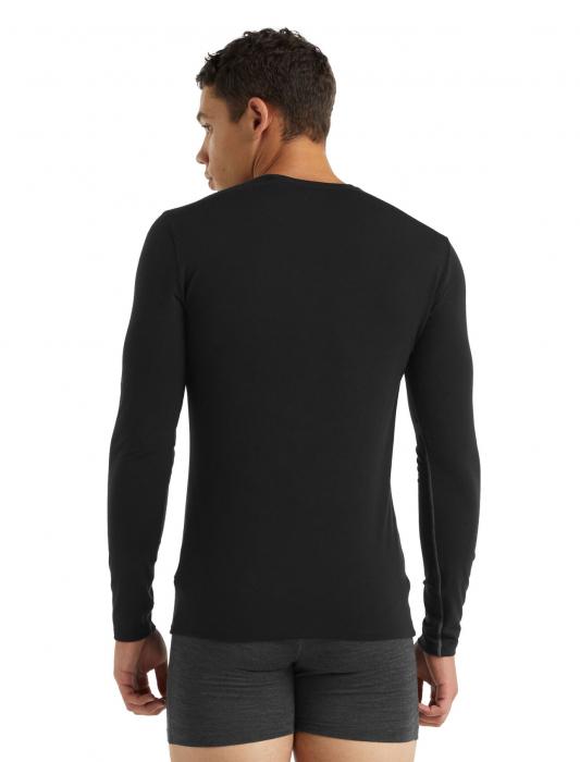 Bluza merino barbati ICEBREAKER Anatomica Crewe neagra [2]