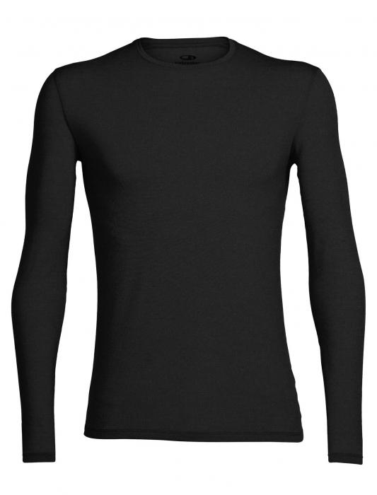 Bluza merino barbati ICEBREAKER Anatomica Crewe neagra [0]