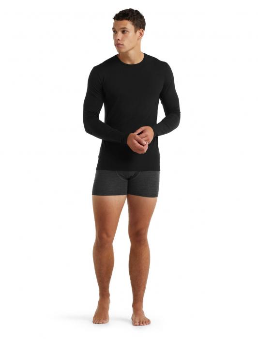 Bluza merino barbati ICEBREAKER Anatomica Crewe neagra [3]
