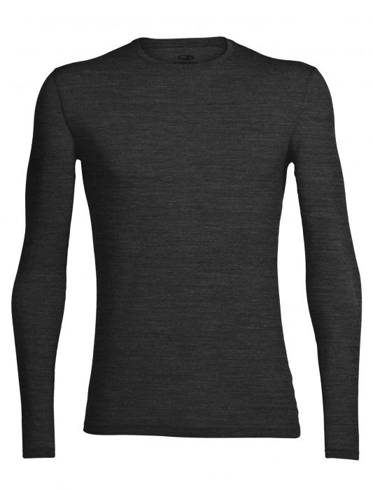 Bluza merino barbati ICEBREAKER Anatomica Crewe gri inchis [0]