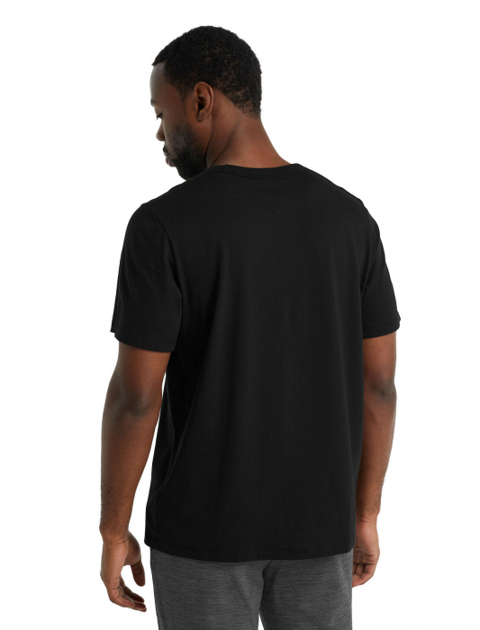 Tricou merino barbati ICEBREAKER Central negru [2]