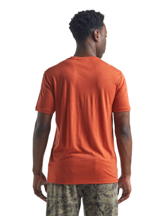 Tricou merino barbati ICEBREAKER Spector Crewe portocaliu [2]