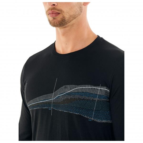 Bluza de corp barbati ICEBREAKER Tech Lite LS Crewe Impact Timeline neagra [2]