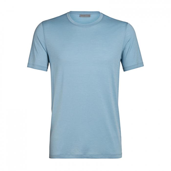 Tricou merino barbati ICEBREAKER TechLiteCrew albastru deschis [0]