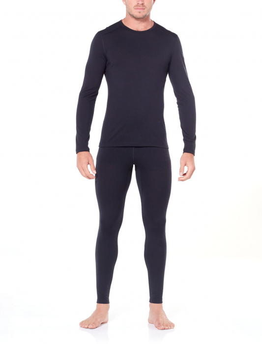 Pantaloni de corp barbati ICEBREAKER 200 Oasis negri [3]