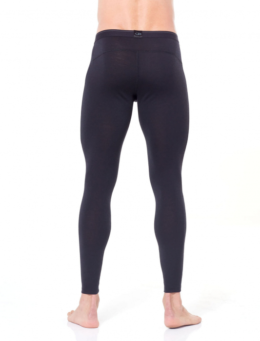 Pantaloni de corp barbati cu slit ICEBREAKER 200 Oasis negri [2]