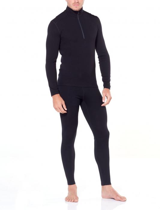Pantaloni de corp barbati ICEBREAKER 260 Tech negri [3]